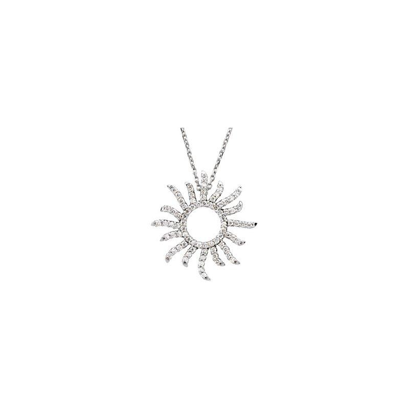 Ladies' Jewelry Diamond Sun Necklace