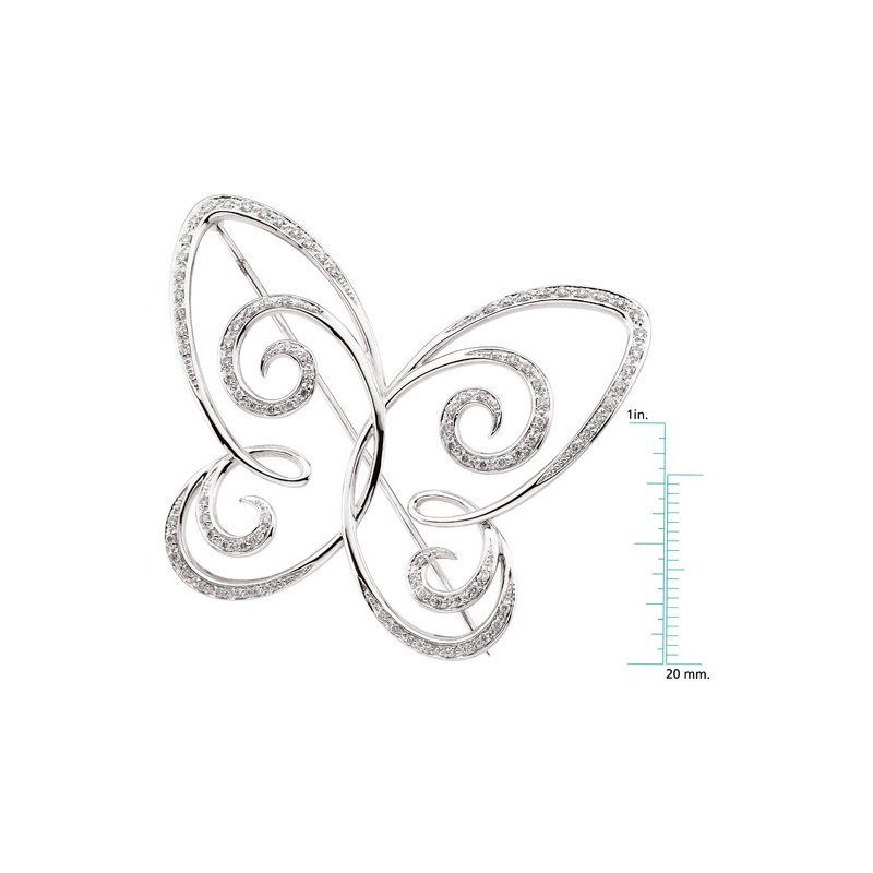 Ladies' Jewelry Diamond Butterfly Brooch Pin