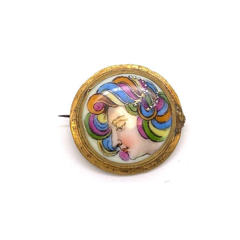 Estate & Vintage Lady's vintage multicolor brooch