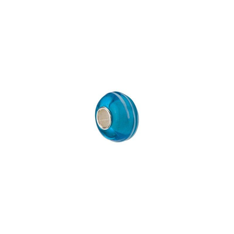 Holiday Ideas Kera Blue Stripe Glass Bead