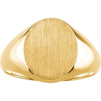 Men's Gold Signet Ring