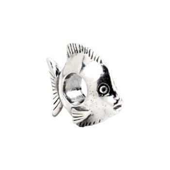 Kera Sterling Silver Fish Bead