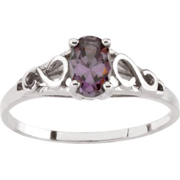 Teen Imitation February Birthstone Ring