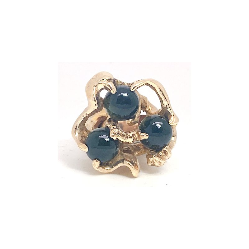 Estate & Vintage Lady's vintage yellow gold and onyx freeform ring