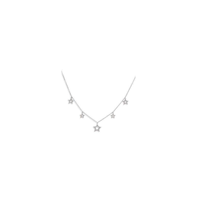 Ladies' Jewelry Diamond Star Necklace