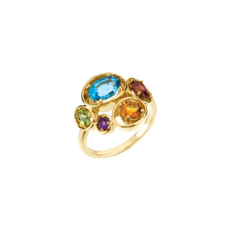 Holiday Ideas Multi-Gemstone Ring