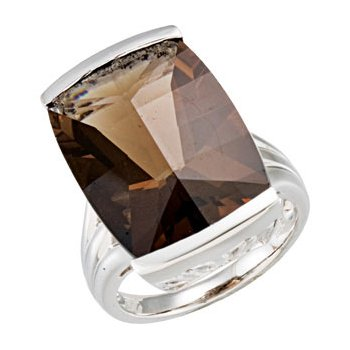 Genuine Smoky Quartz Ring