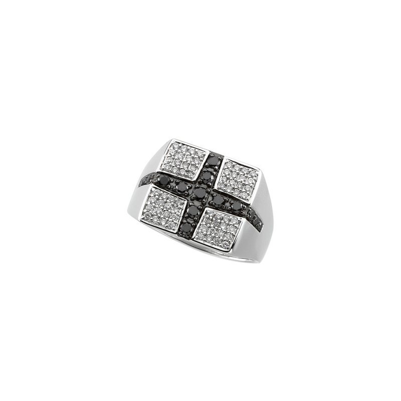 Holiday Ideas 3/4 ct tw Gent's Black & White Diamond Ring