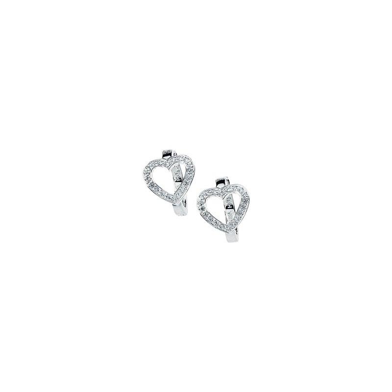 Ladies' Jewelry Cubic Zirconia Heart Earrings