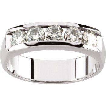 Men's Moissanite Band Ring