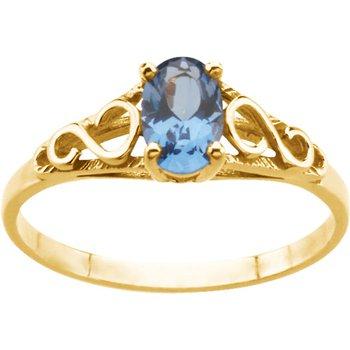 Teen Imitation December Birthstone Ring