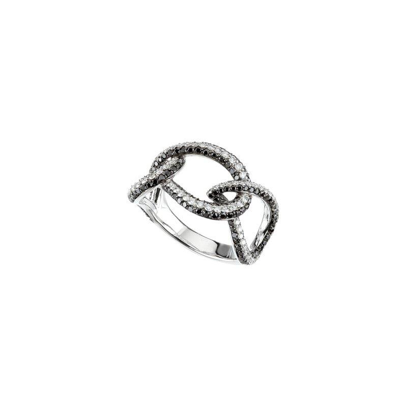 Holiday Ideas 1 5/8 ct tw Black & White Diamond Ring