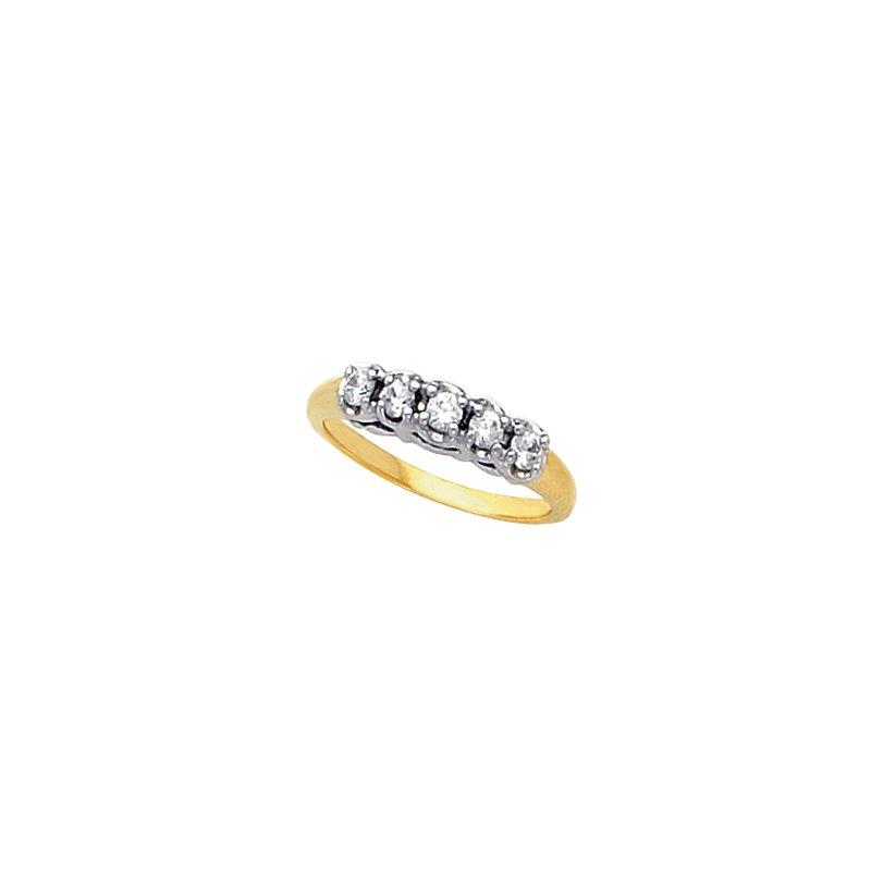Susan Eisen 3/8 ct tw Diamond Wedding Band