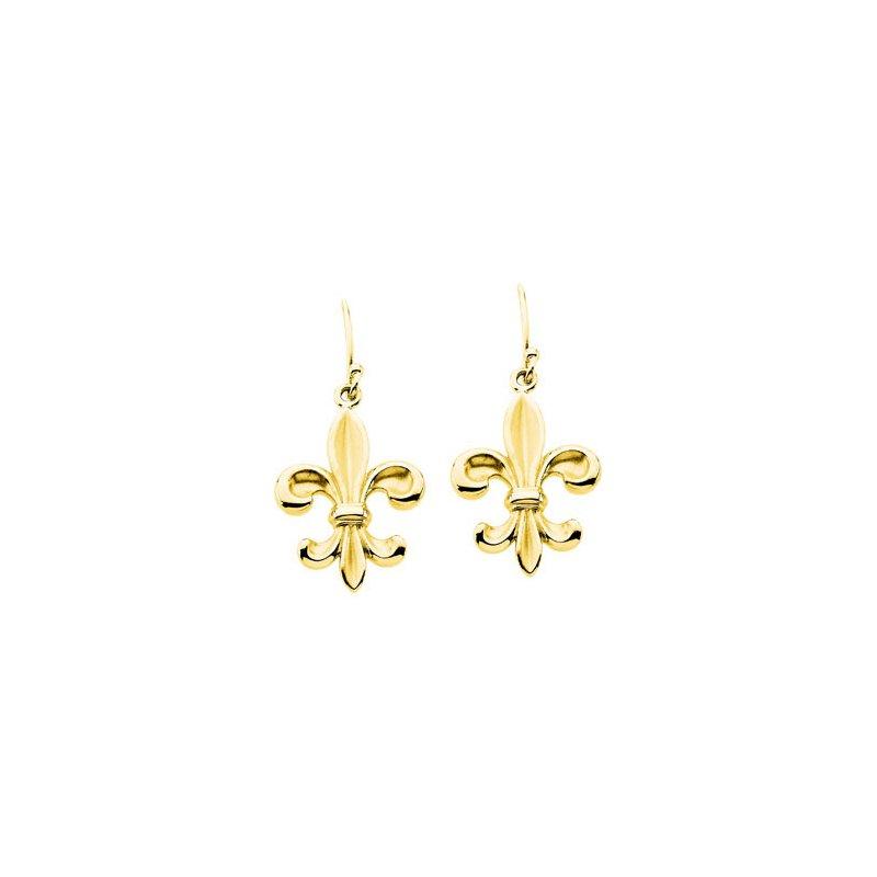 Ladies' Jewelry Fleur-di-lis Earrings