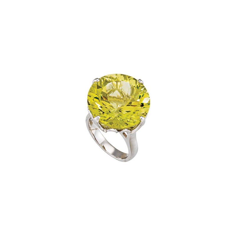 Holiday Ideas Genuine Green Gold Quartz Ring