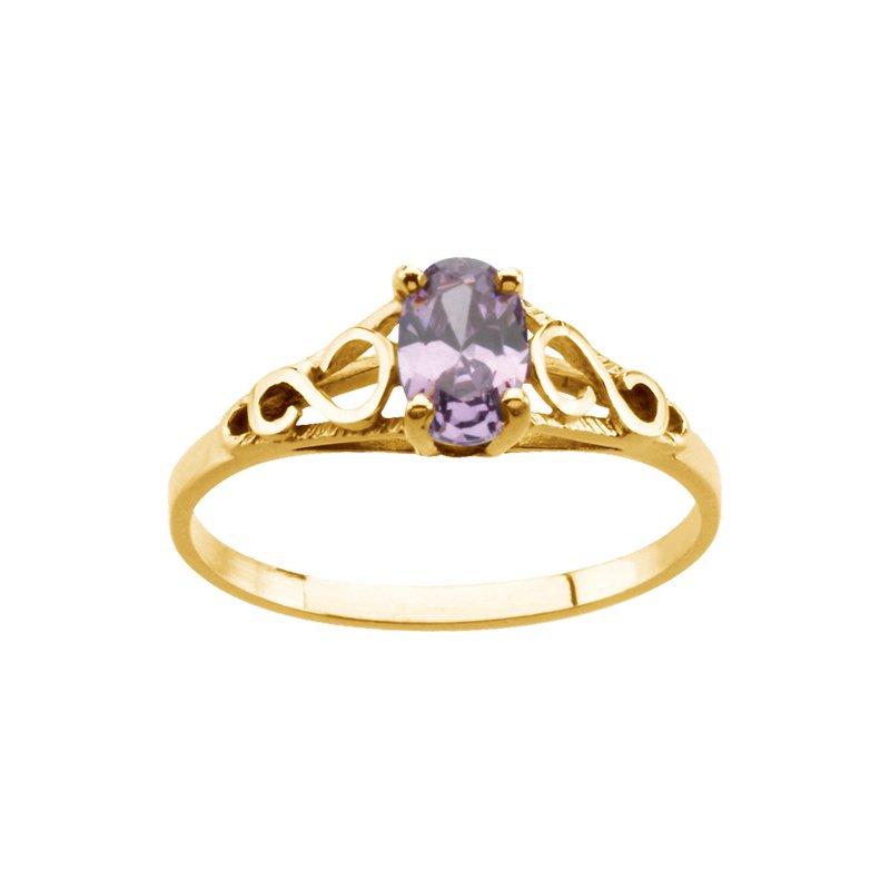 Birthstone Jewelry Teen Imitation February Birthstone Ring