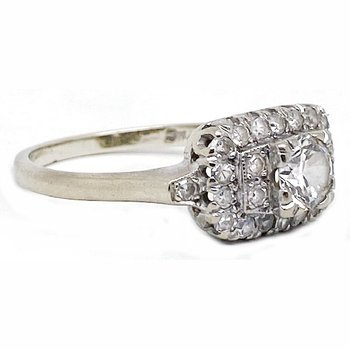 Diamond and gold, Art Deco style ring