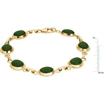 Genuine Jade Cabochon Bracelet