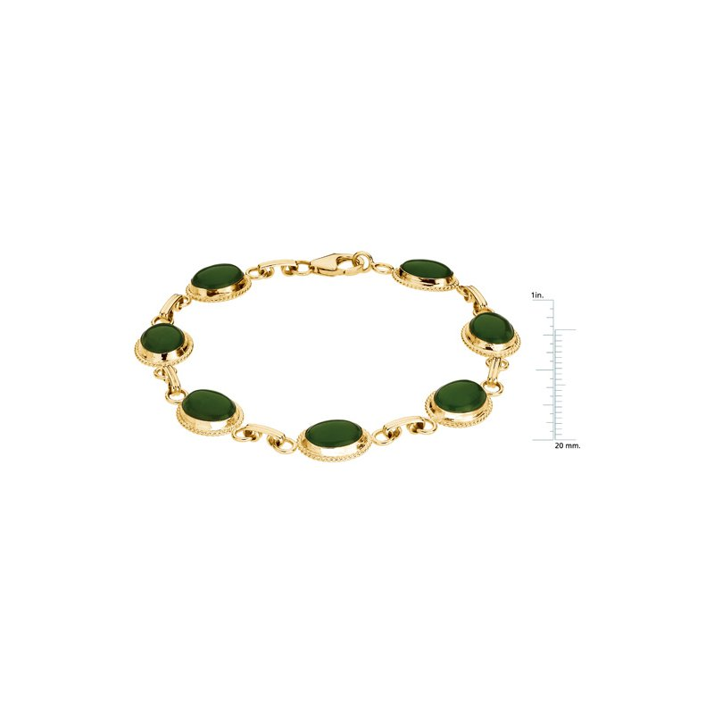 Ladies' Jewelry Genuine Jade Cabochon Bracelet