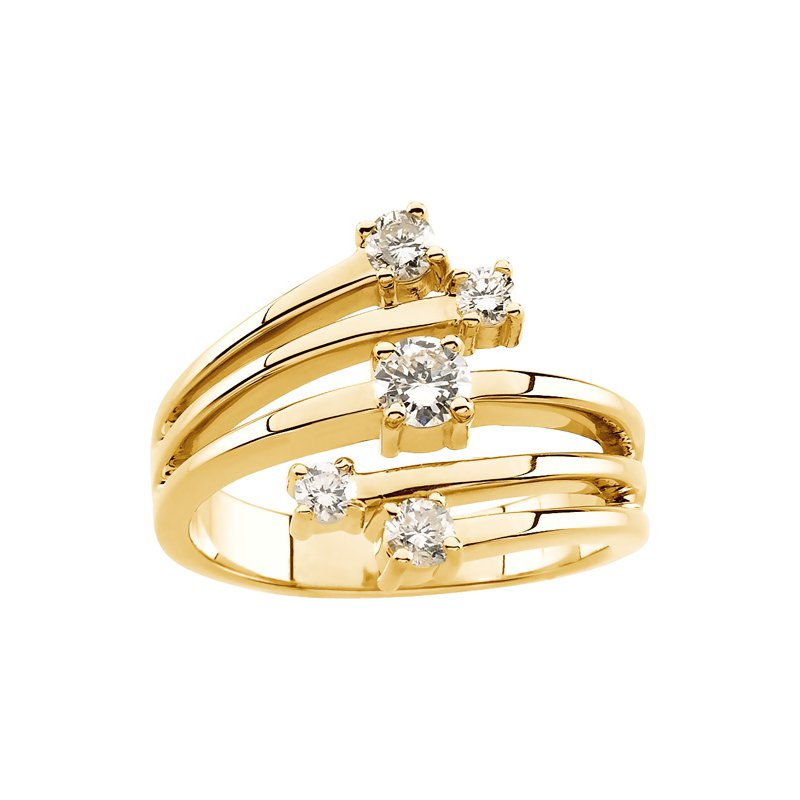Ladies' Jewelry Diamond Right Hand Fashion Ring