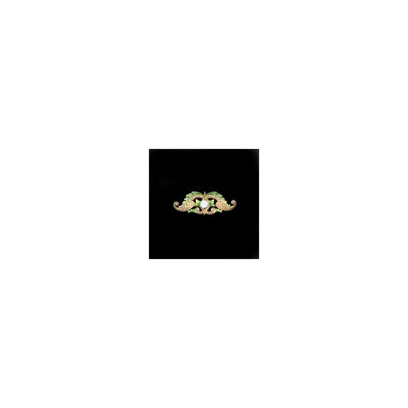 Estate & Vintage Antique/Vintage Diamond and Enamel Brooch