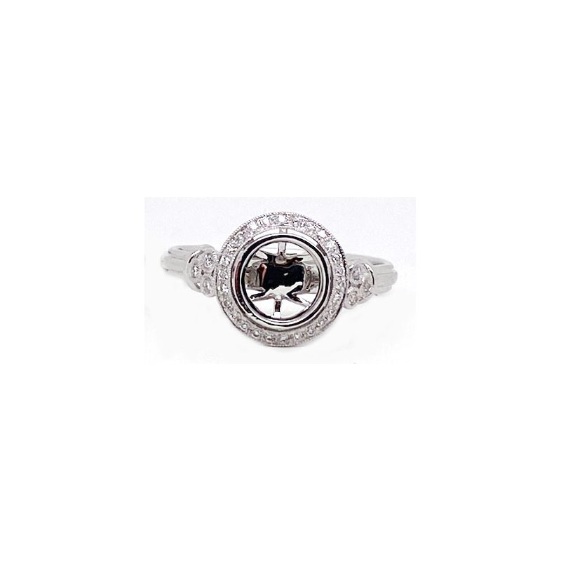 Vintage Bridal Diamond and White Gold, New, Vintage Style, Engagement Ring,Mounting