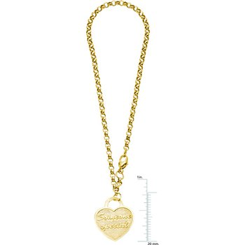 """Someone Special"" Heart Charm Rolo Bracelet"