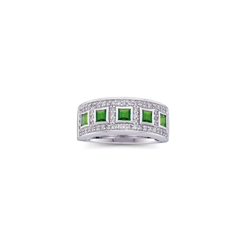 Holiday Ideas Genuine Emerald & Diamond Ring
