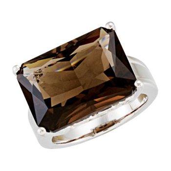 Genuine Smoky Quartz Ring