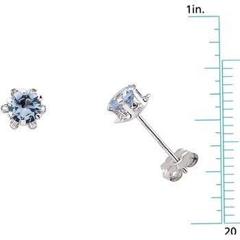 Teen March Birthstone Earrings