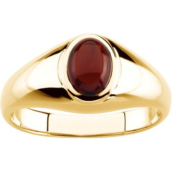 Men's Genuine Mozambique Garnet Ring