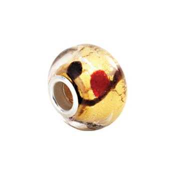 Kera Gold Bleeding Murano Glass Bead