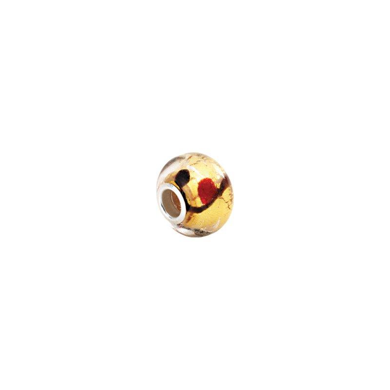 Holiday Ideas Kera Gold Bleeding Murano Glass Bead