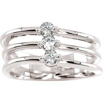 Moissanite 3-Stone Band