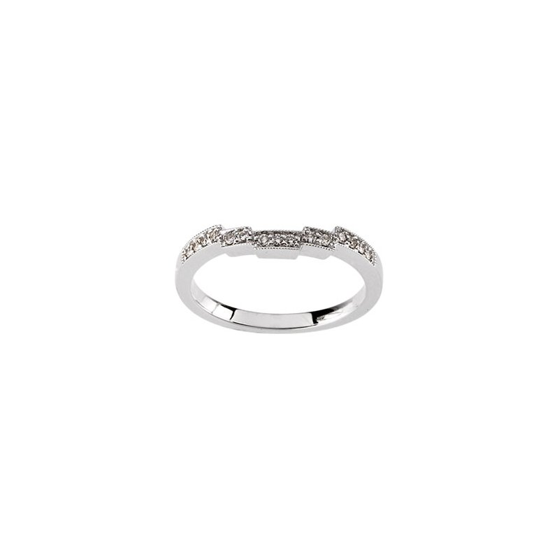 Susan Eisen 1/8 ct tw Diamond Wedding Band