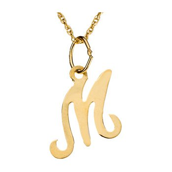 """Initial """"M"""" Necklace"""