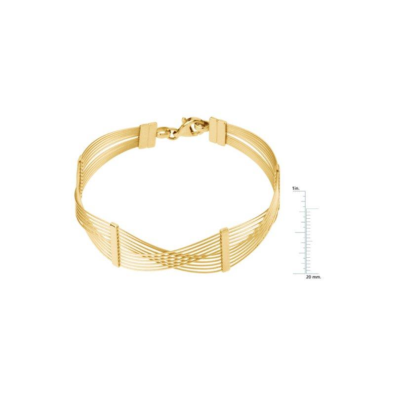 Ladies' Jewelry 12-Strand Wire Bracelet