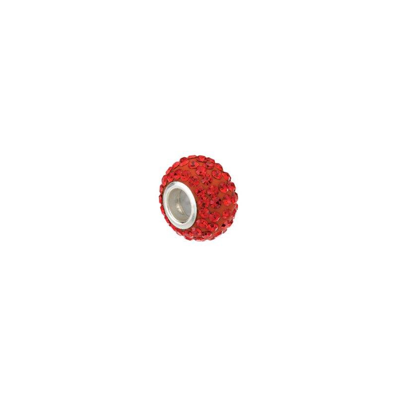 Holiday Ideas Kera Roundel Bead with Pav? Red Crystals