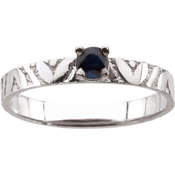 Children's Genuine Sapphire September Birthstone Ring