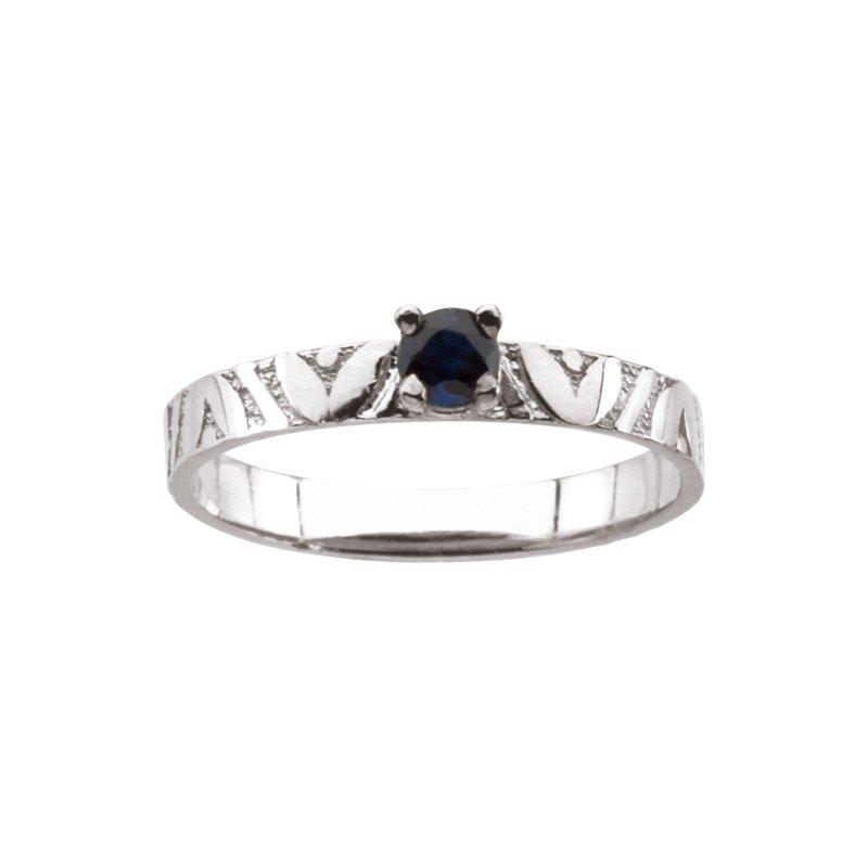 Birthstone Jewelry Children's Genuine Sapphire September Birthstone Ring