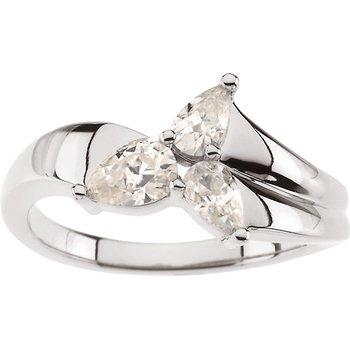 Moissanite 3-Stone Ring