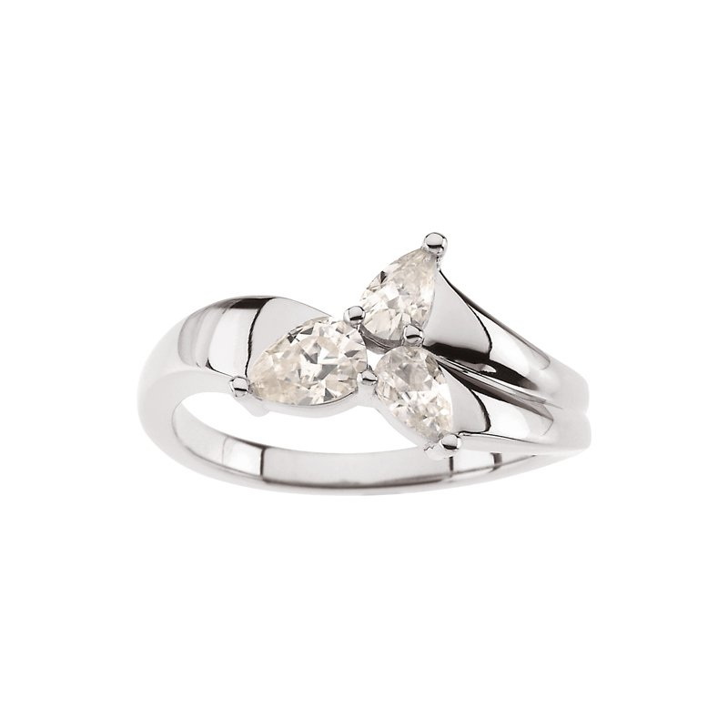 Ladies' Jewelry Moissanite 3-Stone Ring