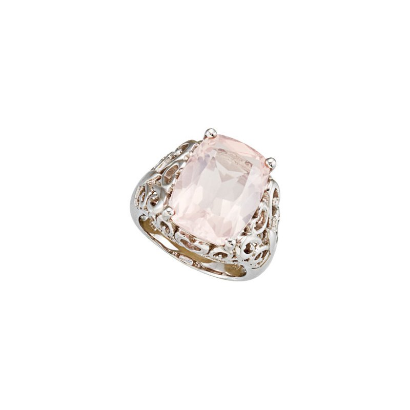 Holiday Ideas Genuine Rose Quartz Ring