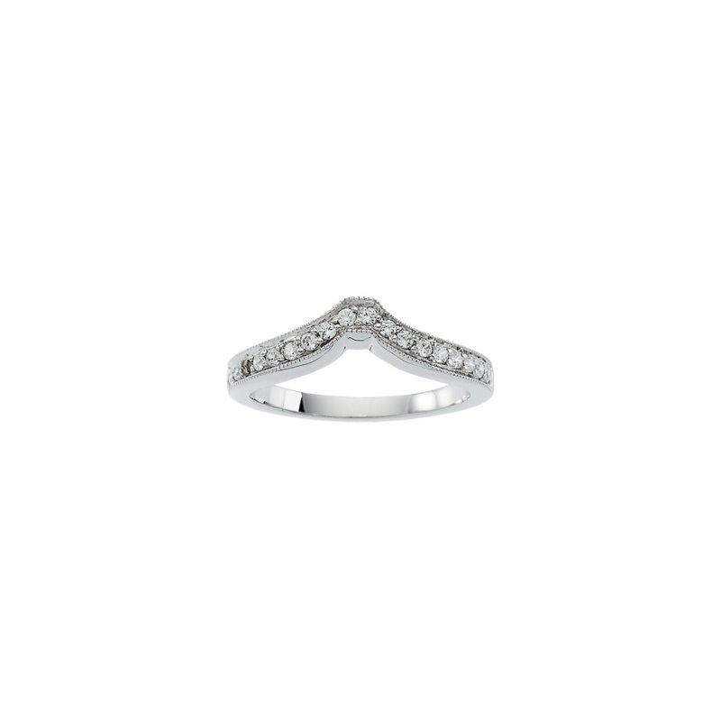 Susan Eisen 1/5 ct tw Diamond Wedding Band