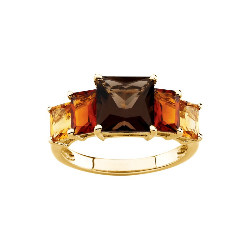 Ladies' Jewelry Genuine Smoky Quartz, Madeira Citrine & Citrine Ring