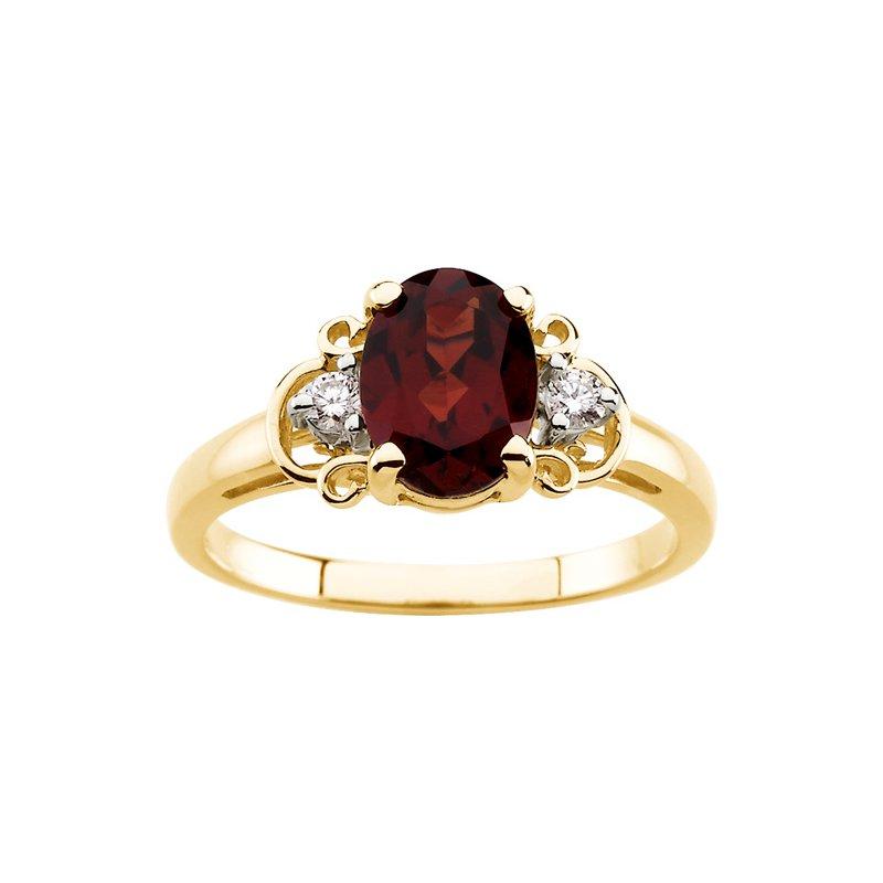 Ladies' Jewelry Genuine Mozambique Garnet & Diamond Ring