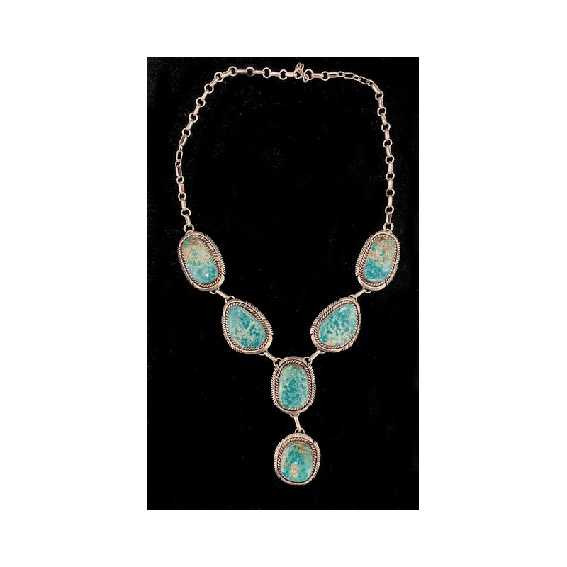 Vintage Silver Vintage Native American sterling silver and Turquoise necklace