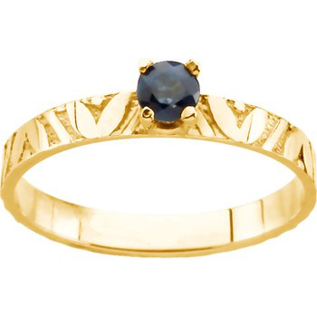 Children's Genuine Sapphire September Birthstone Ring