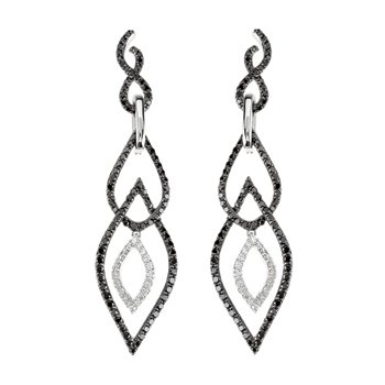 1 1/2 ct tw Black & White Diamond Earrings