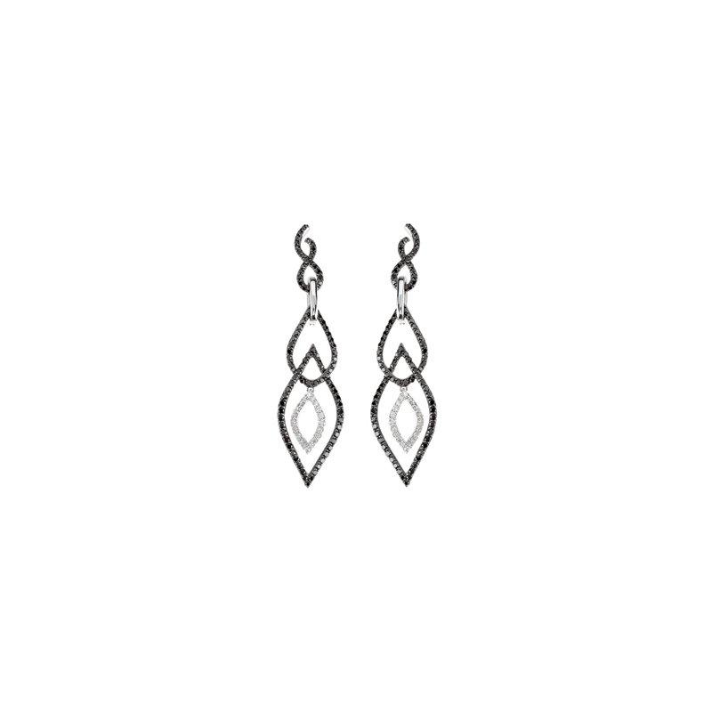 Holiday Ideas 1 1/2 ct tw Black & White Diamond Earrings